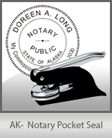 This quality, affordable hand-held notary seal for Alaska can be purchased right here.
