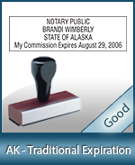 AK-COMM-T - Alaska Notary Traditional Expiration Stamp