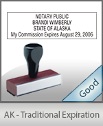 Alaska Notary Traditional Expiration Stamp