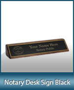 DNDS-BK - Designer Notary Desk Sign - Black
