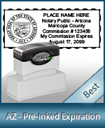 The Highest quality notary commission stamp for Arizona.