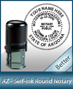 An affordable round self-inking notary stamp for Arizona can be purchased quickly right here.