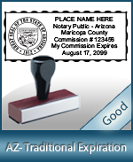 AZ-COMM-T - Arizona Notary Traditional Expiration Stamp