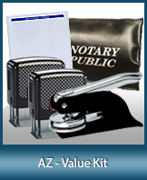 A money-saving arrangement of notary supplies for Arizona. Fast Delivery!