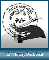 This sturdy Arizona Notary Desk Seal is made of steel construction and built to last.