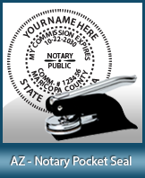 This quality, affordable hand-held notary seal for Arizona can be purchased right here.
