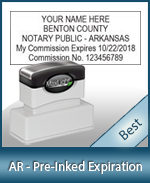 The Highest quality notary commission stamp for Arkansas.