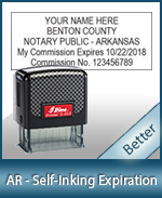 This durable, quality Notary commission stamp for Arkansas is available right here. Fast shipping!