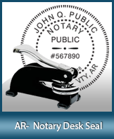 SMDSK-AR - Arkansas Notary Desk Seal
