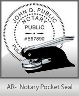 This Arkansas notary seal is made to last. This quality, affordable notary embosser can be purchased right here.