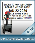 DATER-CO - Colorado Notary Combination Date Stamp