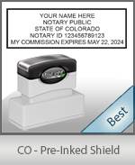 The Highest quality notary commission stamp for Colorado.