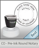 This High-quality Round Colorado Notary stamp gives a clean, clear impression every time.