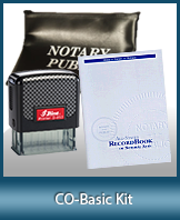 A notary supply kit designed for renewing notaries of Colorado.