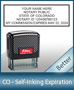 This durable, quality Notary commission stamp for Colorado is available right here. Fast shipping!