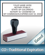 CO-COMM-T - Colorado Notary Traditional Expiration Stamp