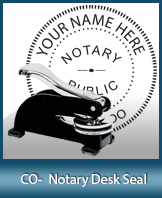 This sturdy Colorado Notary Desk Seal is made of steel construction and built to last.