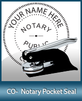 This Colorado notary seal is made to last. This quality, affordable notary embosser can be purchased right here.