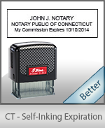 This durable, quality Notary commission stamp for Connecticut is available right here. Fast shipping!