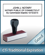 CT-COMM-T - Connecticut Notary Traditional Expiration Stamp