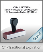 Connecticut Notary Traditional Expiration Stamp