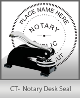 This sturdy Connecticut Notary Desk Seal is made of steel construction and built to last.