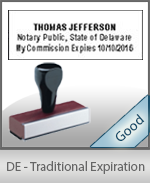 Delaware Notary Traditional Expiration Stamp