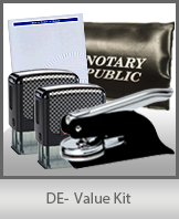 A money-saving arrangement of notary supplies for Delaware. Fast Delivery!