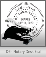 This sturdy Delaware Notary Desk Seal is made of steel construction and built to last.