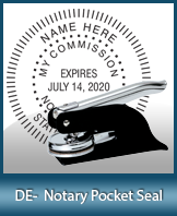 This Delaware notary seal is made to last. This quality, affordable notary embosser can be purchased right here.