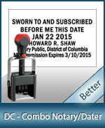 DATER-DC - Washington D.C. Notary Combination Date Stamp