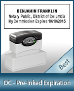 The Highest quality notary commission stamp for Washington DC.