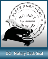 This sturdy Washington DC Notary Desk Seal is made of steel construction and built to last.