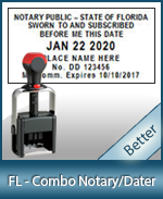 DATER-FL - Florida Notary Combination Date Stamp