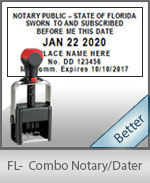 Florida Notary Combination Date Stamp