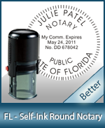 An affordable round self-inking notary stamp for Florida can be purchased quickly right here.