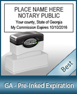 The Highest quality notary commission stamp for Georgia.