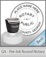 This High-quality Round Georgia Notary stamp gives a clean, clear impression every time.
