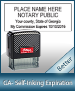 This durable, quality Notary commission stamp for Georgia is available right here. Fast shipping!