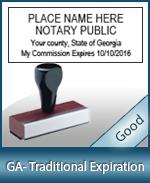 GA-COMM-T - Georgia Notary Traditional Expiration Stamp