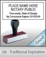 Georgia Notary Traditional Expiration Stamp