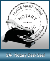 This sturdy Georgia Notary Desk Seal is made of steel construction and built to last.