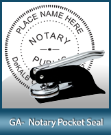 This Georgia notary seal is made to last. This quality, affordable notary embosser can be purchased right here.
