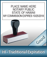 HI-COMM-T - Hawaii Notary Traditional Expiration Stamp