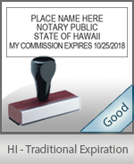 Hawaii Notary Traditional Expiration Stamp