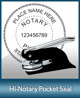 This Hawaii notary seal is made to last. This quality, affordable notary embosser can be purchased right here.