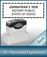 The Highest quality notary commission stamp for Idaho.