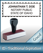ID-COMM-T - Idaho Notary Traditional Expiration Stamp