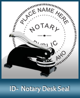 This sturdy Idaho Notary Desk Seal is made of steel construction and built to last.