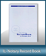 This Illinois Notary Record Book, also known as a Notary Journal is an essential product for all notaries.